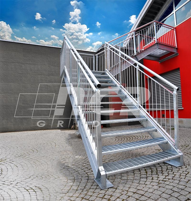 Nc2 grid scale e protezioni di sicurezza for Gradini per scale esterne